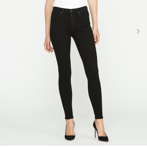 Hudson Jeans Denim - Hudson Barbara High Waist Super Skinny Jeans Black
